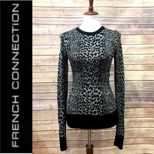 French Connection animal print sweater